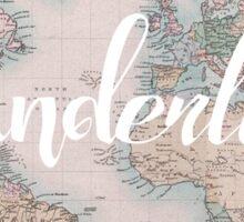 Wanderlust Travel Sticker
