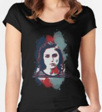 STENCIL PORTRAIT Women's Fitted Scoop T-Shirt