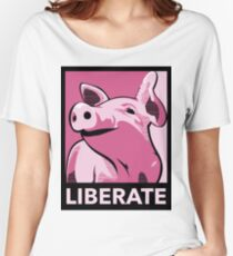 Liberate (Pig, Poster Style) Women's Relaxed Fit T-Shirt