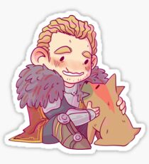Commander Mabari Sticker