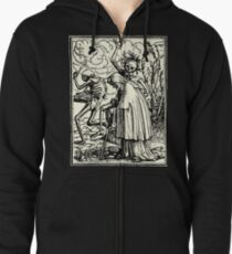 Dance of Death, Dance of macabre (Holbein) Zipped Hoodie