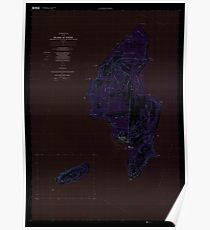USGS TOPO Map Northern Mariana Islands MP Island Of Tinian 363627 1999 25000 Inverted Poster