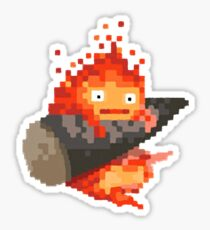Calcifer, 8-bit painting style (Howl's moving castle) Sticker