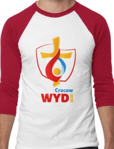 World Youth Day 2016 in Cracow logo Men's Baseball ¾ T-Shirt