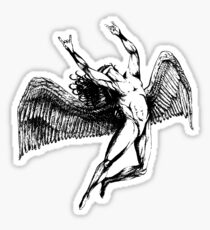 ICARUS THROWS THE HORNS - black ****SEE ICARUS NOTE IN MY BIO Sticker