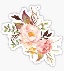 Pfirsich Aquarell Pfingstrosen Sticker