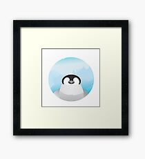 Simplistic Penguin Framed Print