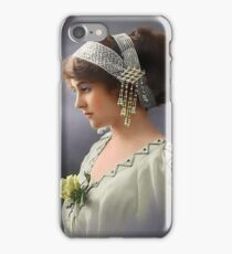 Colorized Vintage Young Beauty III iPhone Case/Skin