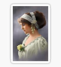 Colorized Vintage Young Beauty III Sticker