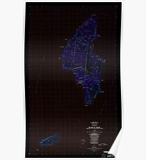 USGS TOPO Map Northern Mariana Islands MP Island Of Tinian 462333 1983 25000 Inverted Poster