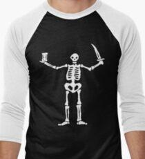 Black Sails Pirate Flag White Skeleton T-Shirt