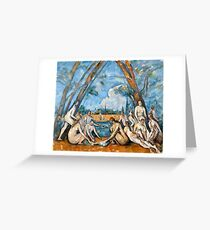 1906 - Paul Cezanne - The Large Bathers Greeting Card
