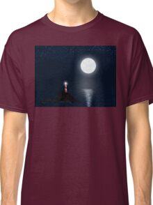 Lighthouse and Full Moon Classic T-Shirt