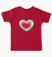 Summer Love - Watermelon Heart Kids Tee