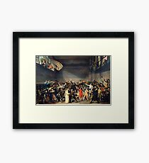 Tennis Court Oath -  Jacques Louis David - French Revolution - 1794 Framed Print