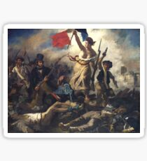 Liberty Leading the People - 1830 - Eugène Delacroix - French Revolution Sticker