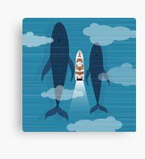 Yacht in ocean Canvas Print