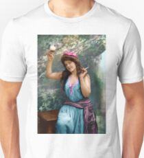 Colorized Fitz Guerin's Lady Liberine 1902 version I Unisex T-Shirt