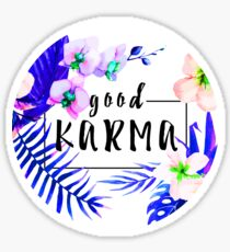 Pegatina Good Karma Mantra Tropical Flowers Jungle