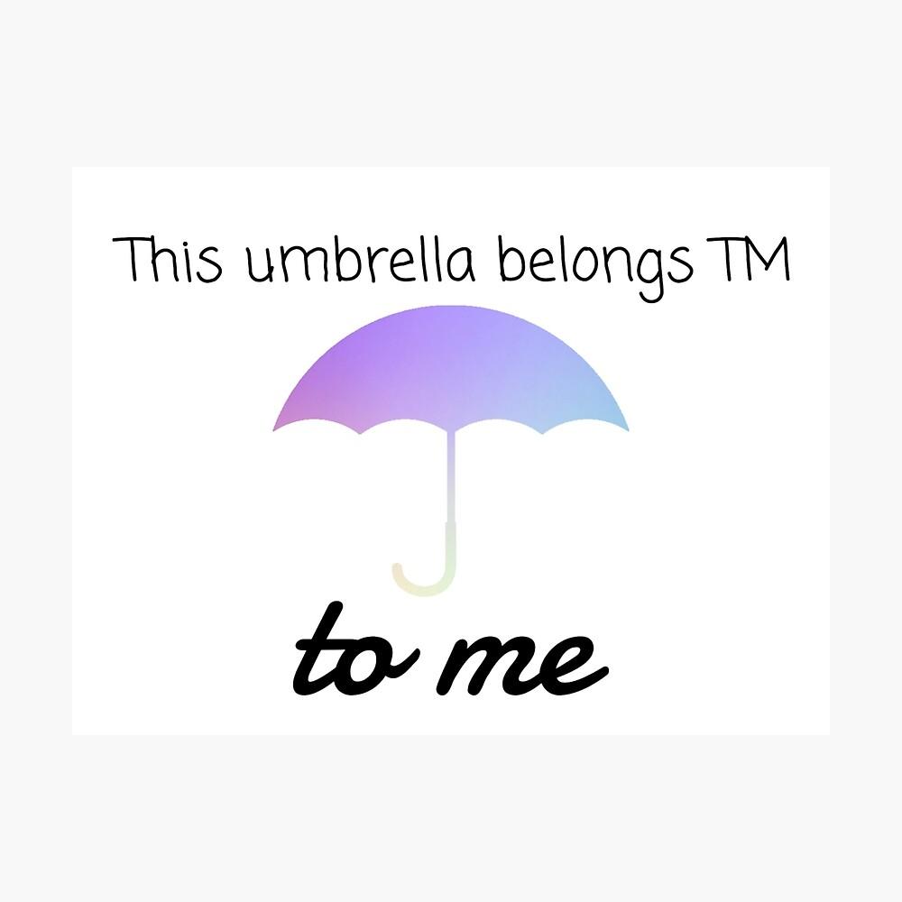 HIMYM Regenschirm Zitat Fotodruck