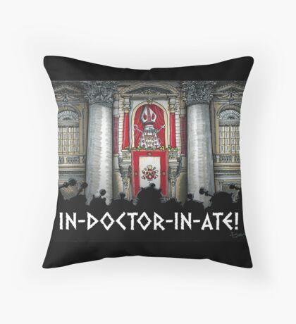 Dalek Pope XVII Throw Pillow