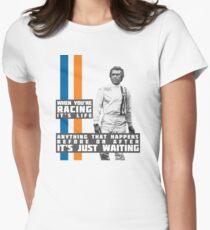 Steve McQueen Le Mans  Women's Fitted T-Shirt