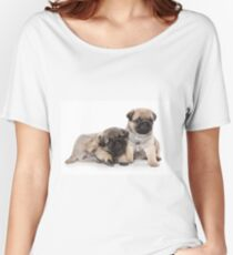 Funny cute pug puppies Women's Relaxed Fit T-Shirt