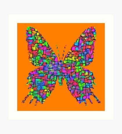 Artificial neural style Simplex pixel Papilio Gloria butterfly Art Print