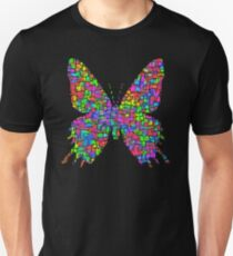 Artificial neural style Simplex pixel Papilio Gloria butterfly Slim Fit T-Shirt