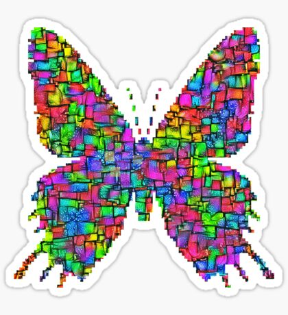 Artificial neural style Simplex pixel Papilio Gloria butterfly Sticker