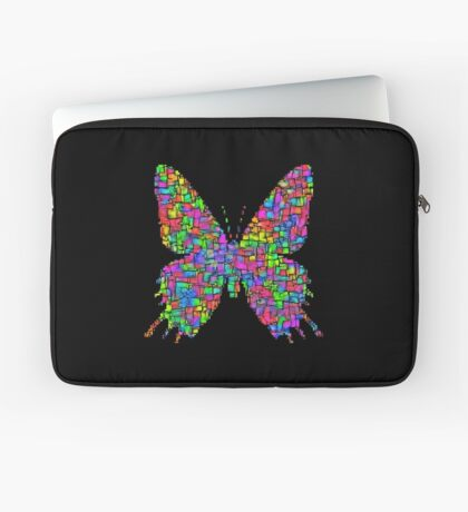 Artificial neural style Simplex pixel Papilio Gloria butterfly Laptop Sleeve