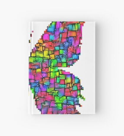Artificial neural style Simplex pixel Papilio Gloria butterfly Hardcover Journal