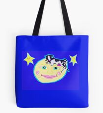Cow And Moon Take A Breather Tote Bag