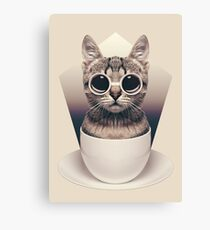 Caffeinimals: Cat Canvas Print