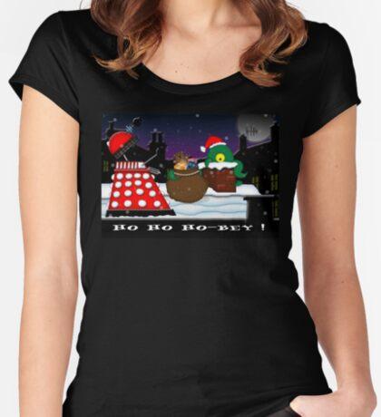 Ho ho ho-bey! Women's Fitted Scoop T-Shirt