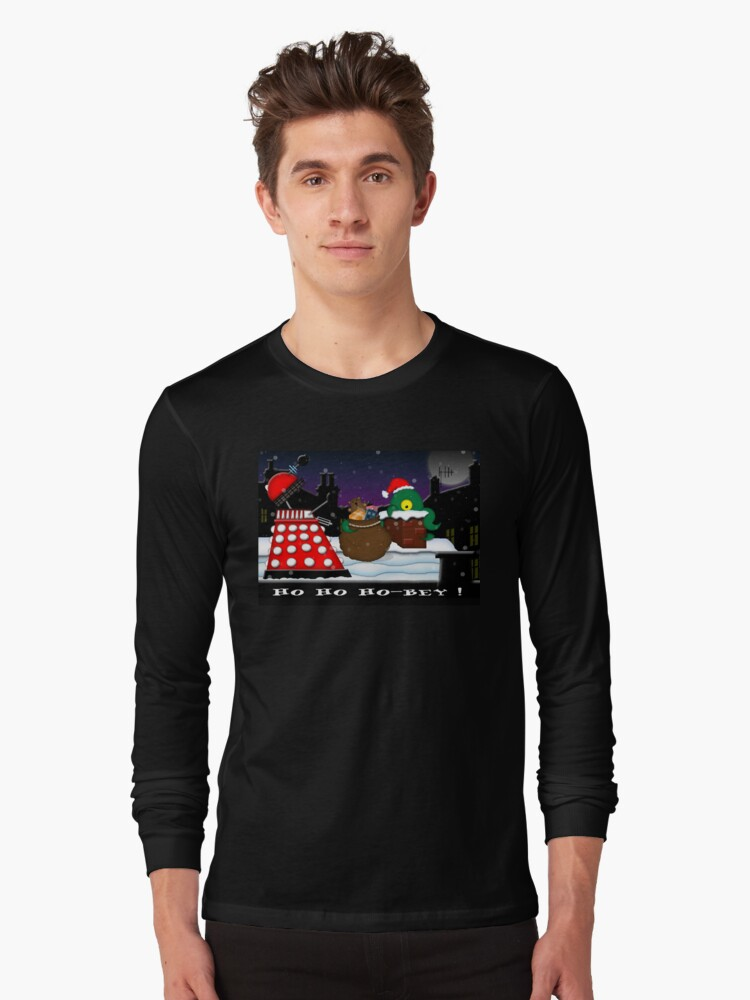 Ho ho ho-bey! Long Sleeve T-Shirt Front