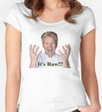 It's Raw!!!!!!!!!!!!!!!!! Women's Fitted Scoop T-Shirt