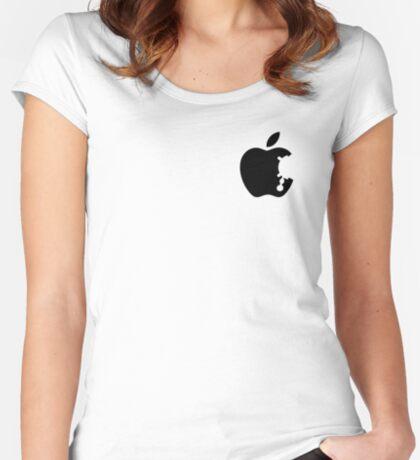Dalek Apple White  Women's Fitted Scoop T-Shirt