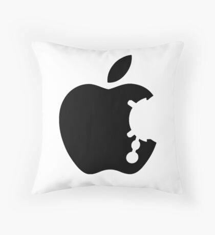 Dalek Apple White  Throw Pillow