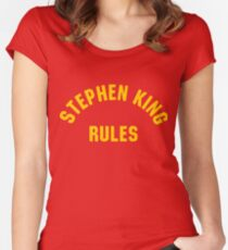 Stephen King Rules Women's Fitted Scoop T-Shirt
