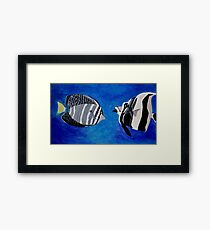 Ocean Fishes Acrylic Painting Framed Print