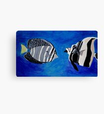 Ocean Fishes Acrylic Painting Canvas Print