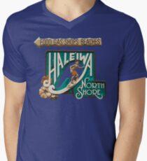North Shore Traffic Sign MAN Men's V-Neck T-Shirt