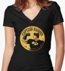 capt hammer Women's Fitted V-Neck T-Shirt