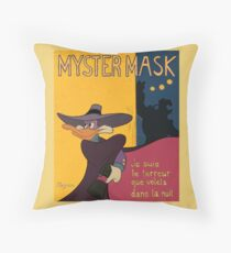 Myster Mask (Darkwing Duck) Throw Pillow