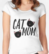 Cat Mom Women's Fitted Scoop T-Shirt