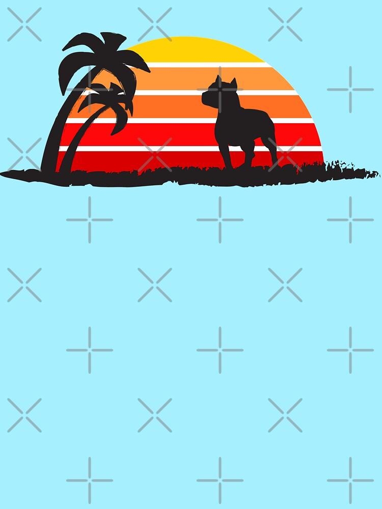 Pitbull on Sunset Beach by NestToNest