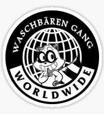 Waschbären Gang - Ain't nobody fresher than ma mothafuckin gang Sticker