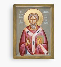 St Theodore of Tarsus Archbishop of Canterbury Canvas Print