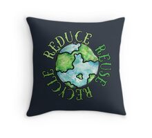Reduce Reuse Recycle Earth Day Throw Pillow